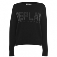 Bluze trening Replay Glitter Logo Knit