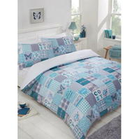 Linens and Lace Patch Duvet Cover Set