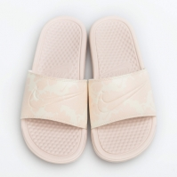 Papuci roz Nike Benassi JDI Print femei