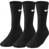 Set 3 perechi sosete negre Nike Value Cotton Crew SX4508-001 unisex adulti