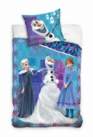 Lenjerie pat cu desene animate Frozen