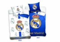 Lenjerii de pat bumbac cu echipe fotbal Real Madrid 160 x 200 cm