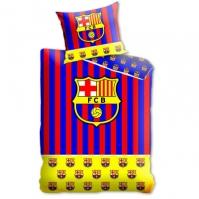 Lenjerii de pat fotbal bumbac FC Barcelona 160 x 200 cm