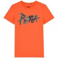 Tricou Puma portocaliu Graphic Tee baieti
