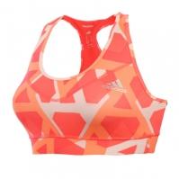 Bustiera portocalie adidas Techfit Triax Print femei
