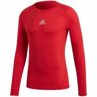 Bluza maneca lunga barbati adidas Alphaskin Sport rosu CW9490 teamwear adidas teamwear