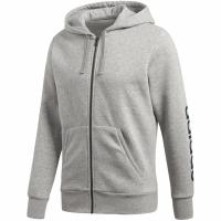 Bluza de trening barbati adidas ESS LIN FZ HOODB gri BQ9636