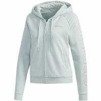 Adidas Essentials cu gluga Tracktop albastru FL9297 pentru femei