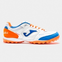 Adidasi Gazon Sintetic Joma Top Flex 942 alb-portocaliu