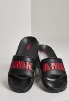 AMK Slides negru-rosu Merchcode