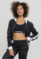 Bluza de trening Button Up pentru Femei negru-alb Urban Classics