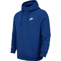 Bluza de trening Hanorac barbati Nike M NSW FZ FLC Club albastru 804389 438