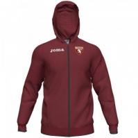 Bluza de trening Joma Hotel cu gluga Zipper Torino visiniu