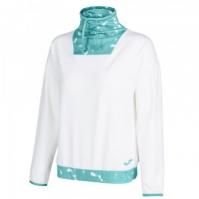 Bluza de trening Joma Neck Electra alb-turcoaz pentru Femei