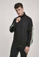 Bluza de trening Sleeve Taped negru-multicolor Urban Classics