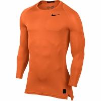Bluza maneca lunga Nike Pro Cool compresie portocaliu 703088 815 barbati