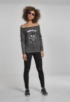 Bluza Motorhead Logo Burnout pentru Femei gri inchis Merchcode