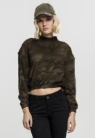 Camo Turtleneck Crew pentru Femei oliv-camuflaj Urban Classics