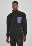 Bluza polar contrast negru-ultraviolet Urban Classics