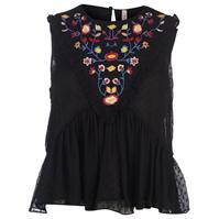 Rock and Rags Embroidered Blouse pentru Femei