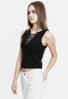 Bluza scurta cu siret pentru Femei negru Urban Classics