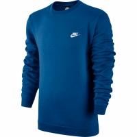 Bluza sport Nike M NSW Club Crew albastru 804340 433