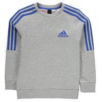 Bluze trening adidas 3 Stripe Logo Crew de baieti Junior