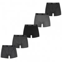Boxeri Pantaloni scurti Lee Cooper 5 Pack Printed pentru Barbati