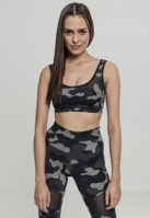 Camo Bra pentru Femei inchis-camuflaj Urban Classics