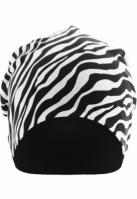 Caciula Beanie Printed Jersey zebra-negru Urban Classics