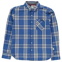 Tricou Lee Cooper cu Maneca Lunga Checked de baieti Junior