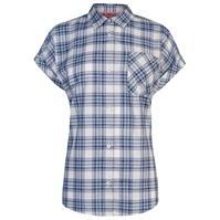 Tricou Lee Cooper cu Maneca Scurta Casual Stripe pentru Femei