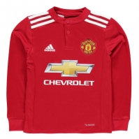 Tricou adidas Manchester United Home cu Maneca Lunga 2017 2018 Junior