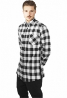Tricou Side-Zip Long Checked Flanell Urban Classics