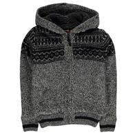Lee Cooper Fairisle Lined Knitted Cardigan de baieti Junior