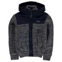Lee Cooper Twist Mix Fabric Knitted Cardigan de baieti Junior