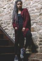 Knitted Long Cape pentru Femei Urban Classics