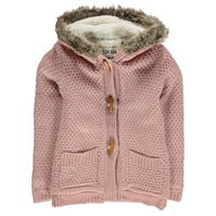 SoulCal Fur Trim Lined Knitted Cardigan de fete Junior