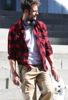 Checkshirt negru-rosu Brandit