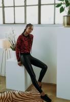 Colanti Faux din piele pentru Femei negru Urban Classics