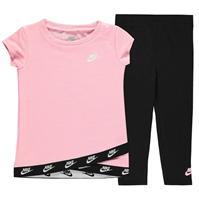 Set bebelusi Colanti Nike and Top pentru fete negru roz