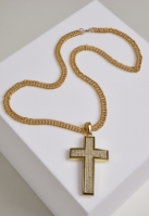 Colier Big Cross auriu Urban Classics