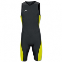 Costum body pentru triatlon Joma negru-galben fara maneci