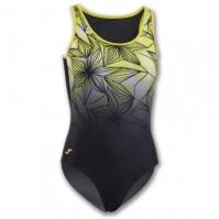 Costum de Inot Joma Flowers verde-negru pentru Femei