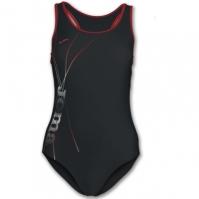 Costum de Inot Joma Lake negru-rosu pentru Femei