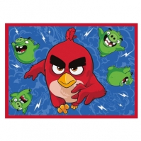 Covor Feathered & Furious Angry Birds 95x133cm