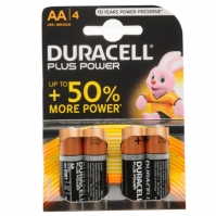 Duracell Plus AA batteries 4 Pack