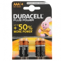 Duracell Plus Power AAA Batteries 4 Pack