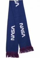 Esarfa NASA tricot alb-albastru Mister Tee