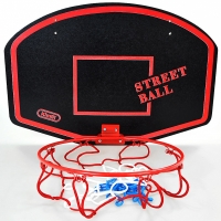 Cos baschet Small KIMET STREET BALL rosu copii